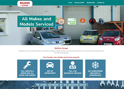 Belbins Garage Website