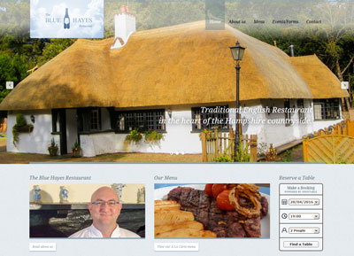 Blue Hayes Restaurant Website
