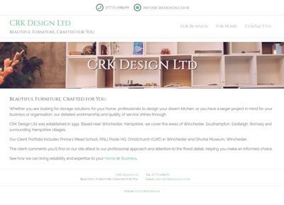 CRK Design Ltd Website
