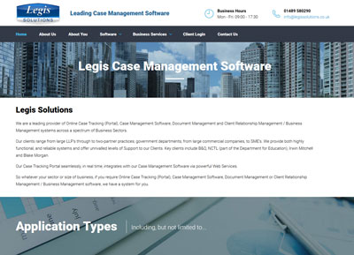 Legis Solutions Website