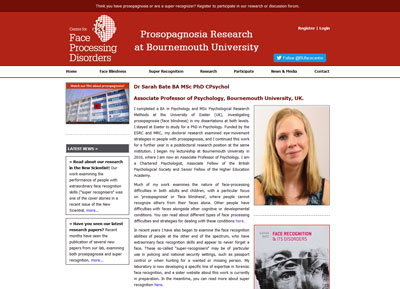 Prosopagnosia Research Website