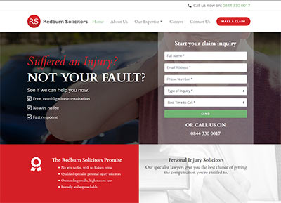 Redburn Solicitors Website